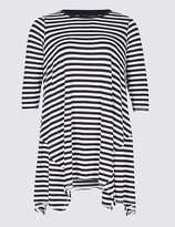 Marks and Spencer CURVE Striped Longline 3⁄4 Sleeve Tunic