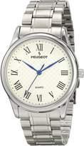 Peugeot 1027S Men's Silver-tone Vintage Guilloch\xe9 Dial Watch