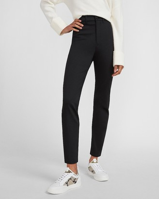 Express Super High Waisted Luxe Polished Black Slim Jeans