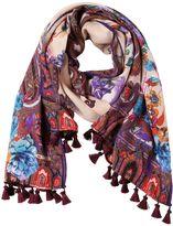 Etro Deli Paisley & Floral Scarf W/ Tassels