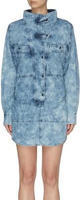 Etoile Isabel Marant 'Inaroa' Panelled Denim Shirt Dress