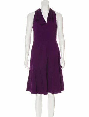 Derek Lam V-Neck Midi Dress Purple