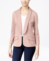 Say What ? Juniors' Shawl-Collar Knit Blazer