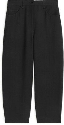Arket Cropped Wool Blend Trousers