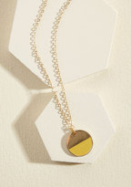 ModCloth Stunning in Circles Necklace in Sunlight