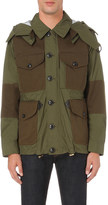 Burberry military-inspired shell and twill jacket
