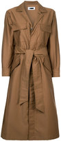 H Beauty&Youth belted shirt-style coat