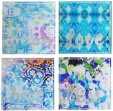 Jay Import Blue Coasters - Set of 4