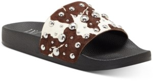 INC International Concepts Inc Peymin Pool Slide Sandals, Created for Macy's Women's Shoes