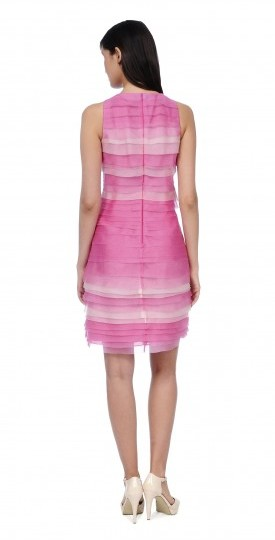 Kay Unger Sleeveless Tier Ombre Cocktail Dress