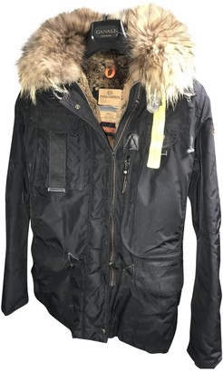 Parajumpers Black Leather Coat for Women