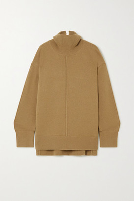 Joseph Oversized Wool Turtleneck Sweater - Army green