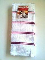 KitchenAid 2 Pack Kitchen Towels White-Red