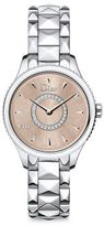 Christian Dior VIII Montaigne Diamond, Mother-Of-Pearl & Two-Tone Stainless Steel Bracelet Watch