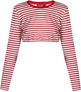 Dolce & Gabbana Striped cotton-jersey cropped top