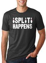 Crazy Dog T-shirts Crazy Dog Tshirtsens Split Happens Funny Bowling Graphic Text Hilarious Sports T Shirt