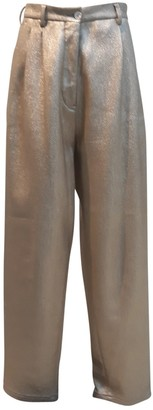 Wunderkind Gold Cotton Trousers for Women