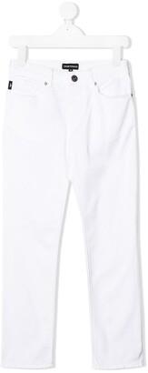 Emporio Armani Kids Straight Leg Jeans