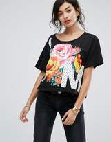 Love Moschino Floral Print T-Shirt