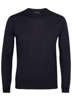 Corneliani Navy Fine-knit Wool Jumper
