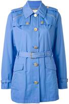 MICHAEL Michael Kors belted military jacket - women - Cotton/Polyester/Spandex/Elastane - L