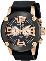 Mulco Men's MW2-6263-025 Analog Display Japanese Quartz Black Watch