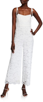LIKELY Miley Tie-Shoulder Lace Jumpsuit