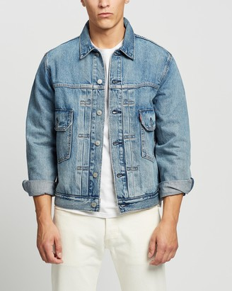 Levi's Men's Blue Denim jacket - The Trucker Jacket - Size S at The Iconic