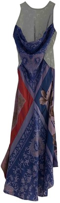 Marine Serre Purple Silk Dresses