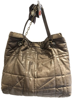Lanvin Amalia Khaki Leather Handbags