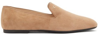 Tod's Suede Loafers - Womens - Beige