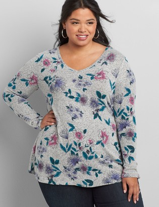 Lane Bryant Softest Touch Long-Sleeve Swing Tee