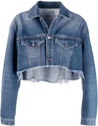 Givenchy slashed crop denim jacket