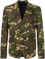 Balmain double-breasted camouflage blazer