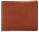 Tommy Bahama Bifold Crinkle Leather Wallet with Removable Passcase