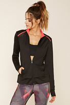 Forever 21 FOREVER 21+ Active Mesh-Panel Jacket