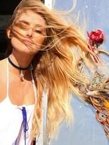 Natalie B La Femme Velvet Choker Necklace in Blue