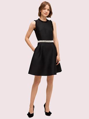 Kate Spade Pearl Crystal Mikado Dress