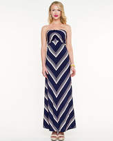 Le Château Stripe Jersey Knit Maxi Dress