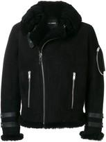 Les Hommes off-centre zip jacket