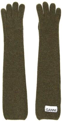 Ganni Long Knit Gloves