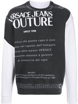 Versace colour-block graphic printed sweatshirt