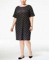 Karen Scott Plus Size Dot-Print T-Shirt Dress