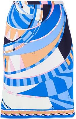 Emilio Pucci Wally print mini skirt