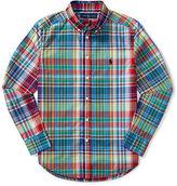 Ralph Lauren 8-20 Plaid Cotton Poplin Shirt