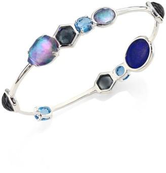 Ippolita Rock Candy Eclipse Mixed Stone & Sterling Silver Bangle Bracelet