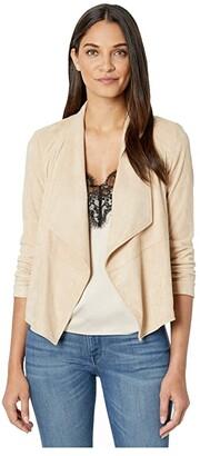 BB Dakota x Steve Madden Suede It Out Super Soft Faux Suede Jacket (Tan) Women's Clothing