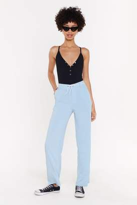 Nasty Gal Womens Tapered Suit Trousers - blue - L