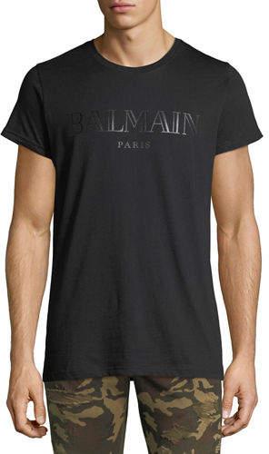 Balmain Logo Graphic Jersey T-Shirt
