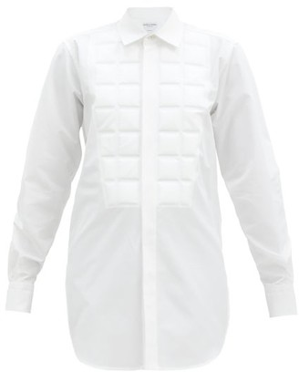 Bottega Veneta Quilted Cotton-blend Shirt - White